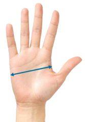 Ermittlung der Handschuhgröße